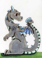 Birthstone Dragon April ACEO by The-GoblinQueen