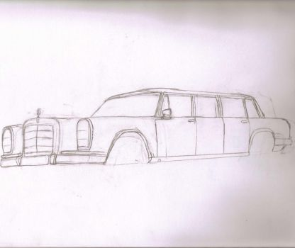 Mercedes Limo by superhobo666