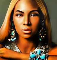 Beyonce Drawing by xderikahx