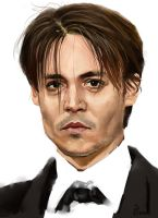 Johnny Depp by Bowkl
