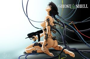 ghost in the shell by guayasam by guayasamin