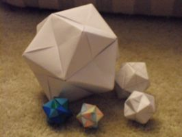Origami Octahedrons by MuNKichii