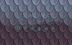 Dragon scales WP - Katakanice by G3Drakoheart-Arts
