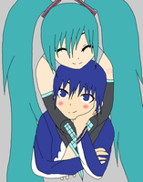 Kaito and Miku by Kaie13
