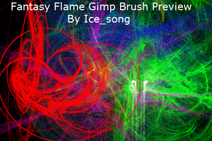 Fantasy Flame Gimp Brushes by ice-song