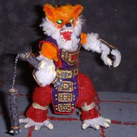 Kitsune Figure with Nunchakus by the-gil-monster