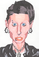 The Girl With the Dragon Tattoo Marker Drawing by IkeDaArtist