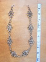 Stainless and Bronze Flower Necklace6-19-2014 by simplysyd