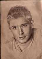 Jensen Ackles portrait by vongue