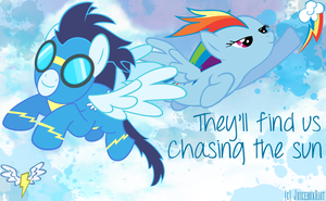 Rainbow Dash x Soarin Wallpaper by JuiceboxRiot