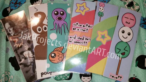Kawaii Bookmarks by JakProjects