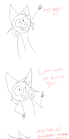 Foxy says a thing by The-Foxybus