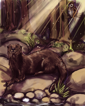 Otter Painting by ashleigheperry