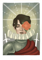 Knight of Roses by TrefleIX