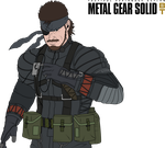 MGS BT - (Naked) Snake (Sneaking Suit) Colored by Peetzaahhh2010