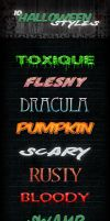 10 Halloween Styles Freebie by PixelladyArt