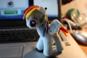 Mini Rainbow Dash Plushie by Siora86