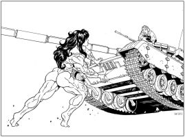 She-Hulk vs T-72 MBT by hardbodies