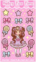 Kawaii Sugary Candy Stickers by miemie-chan3