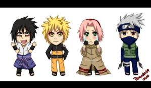 484 - LOL team 7 chibis by Pomarosa