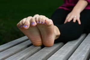 Soft wrinkly soles of feet by foot-portrait