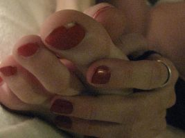 Ippi's Red Toes n Fingers by SelfshotYourFeet
