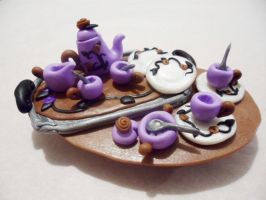 Polymer Clay Tea Set by Saru-Hime