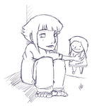 Lil Hinata and her doll by xLiLMeLo