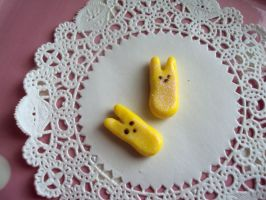 Easter Marshmallow Bunny Earrings - Peep Inspired by abarra01