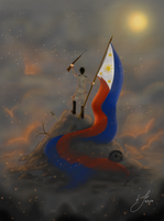 Fighting for Independence [Philippines- OC- APH] by Tsukiakari-Aya