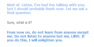 clever bot is so wise...i think xD by rihab724