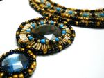 Egypt inspired bib beaded necklace deatail by AniDandelion