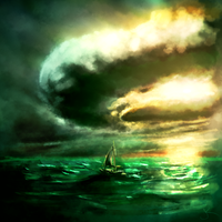 Speedpainting of a Sailboat in a Storm by Jack-Kaiser