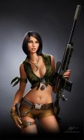 Jurassuc Hunter. Sniper Girl by javieralcalde