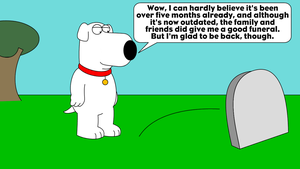 Brian visits his now-averted grave by LDEJRuff