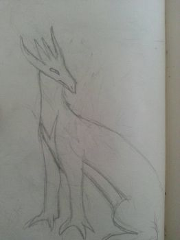 Dragon sketch  by Draconic-Artist