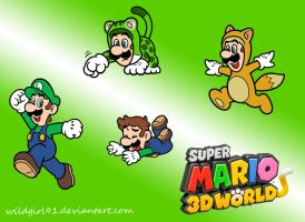 Super Mario 3D World - Luigi Wallpaper by WildGirl91