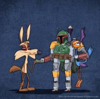 Boba Fett VS Road Runner by lost-angel-less