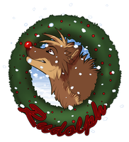 Rudolph wolf - badge commish by Kairi292