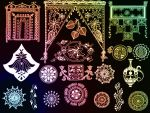 Indian ornaments - set 3 by Lileya