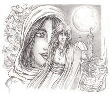 Fading in the red night_pencil by shisleya
