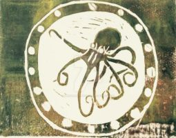 Octopus Stamp #2 by Slendermansbrother