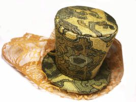 Mini Jacquard Top Hat by salvagedsword