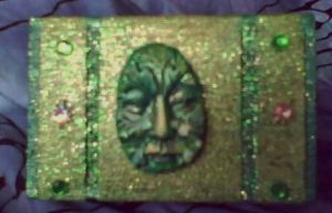GREENMAN MINI BOX IN GREEN by aradia1015