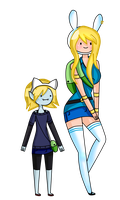 fionna and Marshall lee daughter by kiwibunny1