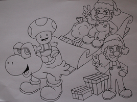 Mario World - Especial de Natal by vcdesenhos