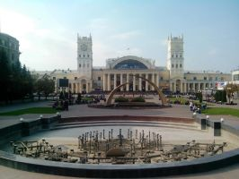 Building of the railway station, Kharkiv by FCSD
