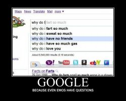 Google is for the Emos by MariaDoofenshmirtz