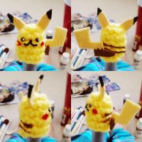 pikachu pen pencil topper details by hellohappycrafts