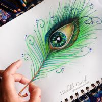 Peacock Eye Drawing by artisticalshell
